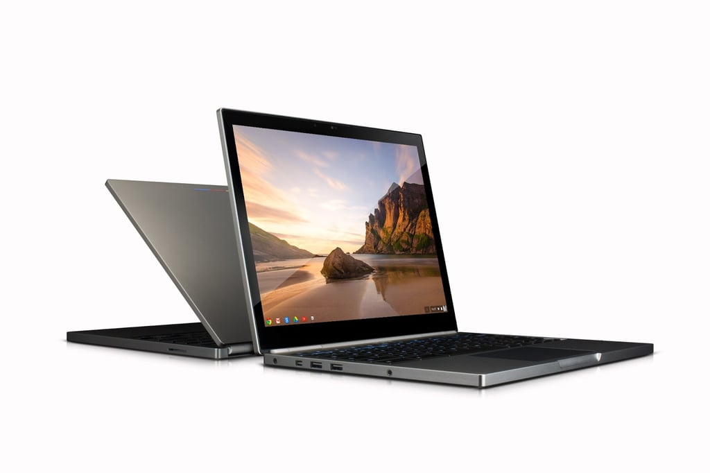 The technical nitty gritty:  12.85-inch display 2560 x 1700, at 239 pixels per inch 11.7 x 8.8 x .63 inches 3.35 lbs. Intel Core i5 Processor (a big upgrade!) 4GB RAM, 32 or 64GB solid state drive 5 hours of battery life