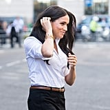 Meghan Markle Wearing Smart Works Collection