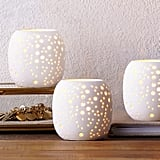 Pierced Porcelain Votives ($9)