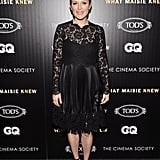 Julianne Moore wore a black frock.