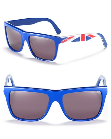 These Union Jack printed shades by Jimmy Choo are sure to turn a few sartorial eyes.  Jimmy Choo Squared Wayfarer Sunglasses with Union Jack Exterior ($275)