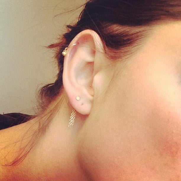Phoebe Tonkin scored herself some pretty new jewellery for hers ears. Source: Instagram user phoebejtonkin