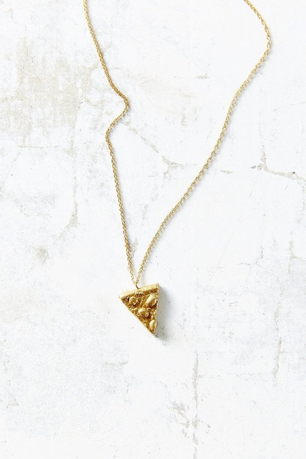 Urban Outfitters Verameat Pepperoni Pizza Necklace ($148)