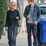 Meg Ryan and Son Jack in LA January 2016