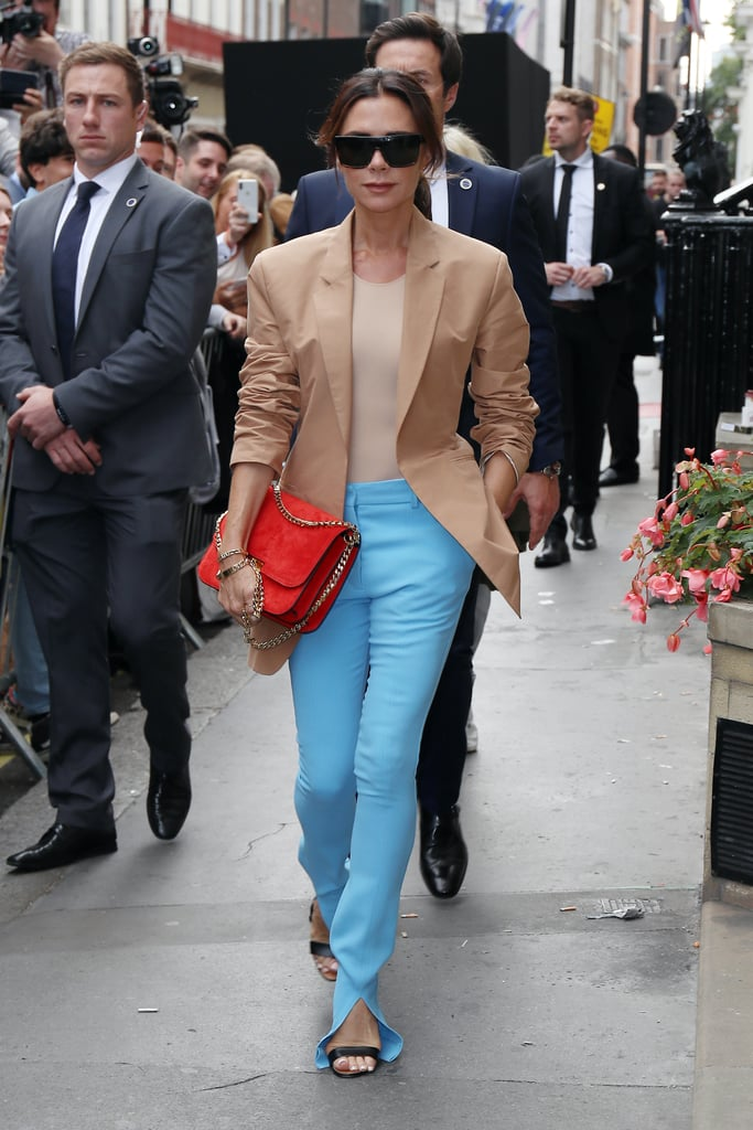 Victoria Beckham's Fashion Week Outfit Looks Totally Fall-Neutral, Until You See Her Pants