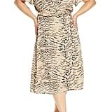 Leith Flutter-Sleeve Wrap Dress