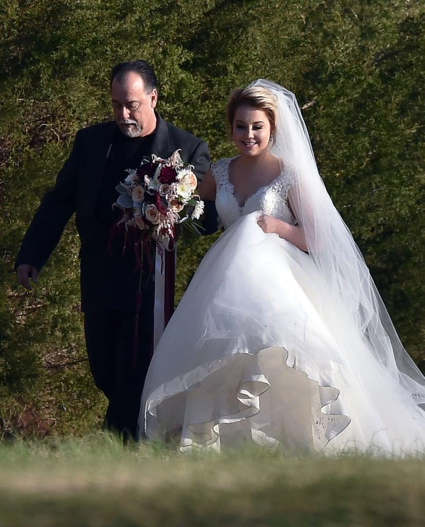Gwen Stefani and Blake Shelton at RaeLynns Wedding 2016