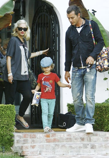 Gwen Stefani out and about with her family