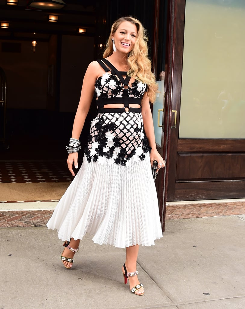 Blake Lively Wearing a Cut-Out Dress While Pregnant