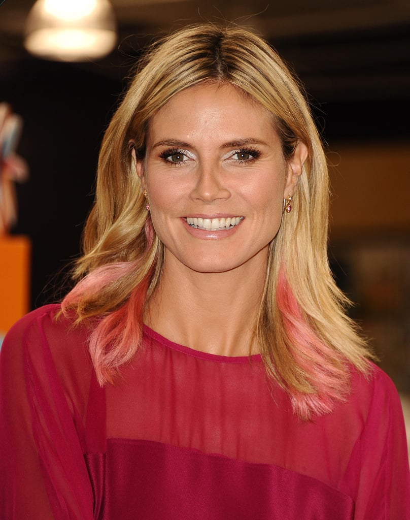 Heidi Klum is a faithful blonde, but back in 2012 she tried out the pink highlights trend. The hue proved to be only an experimental thing.