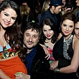 Selena Gomez, Harmony Korine, Rachel Korine, Ashley Benson, and James Franco huddled up at the afterparty.