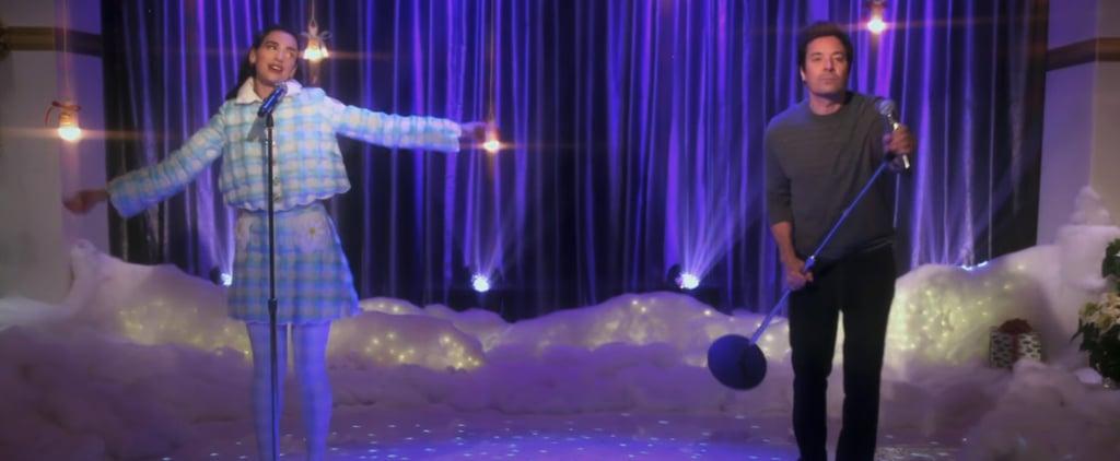Watch Dua Lipa and Jimmy Fallon Sing Christmas Is All Around