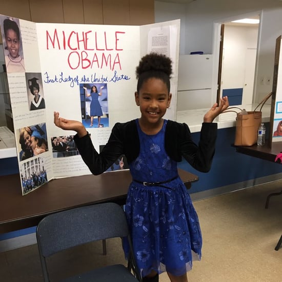 Little Girl's Michelle Obama School Project