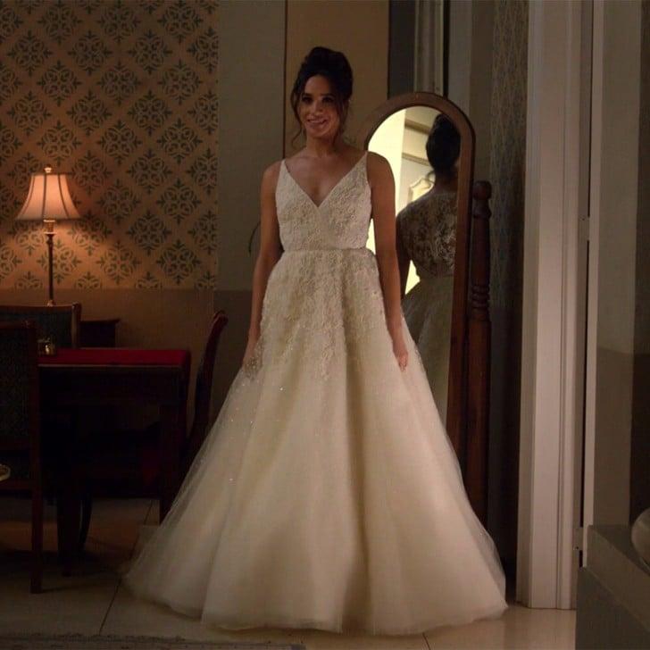 Meghan Markle Wedding Dress on Suits | POPSUGAR Fashion