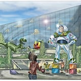 Toy Story Hotel's Buzz Lightyear Courtyard Rendering