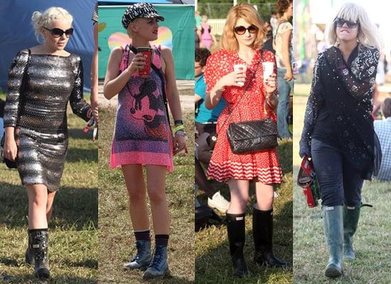 Photos of Lily Allen, Little Boots, Jaime Winstone, Nicola Roberts at Glastonbury 2009