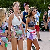 The trusted fanny pack — seen in a rainbow of colors — was the official accessory of Lollapalooza.