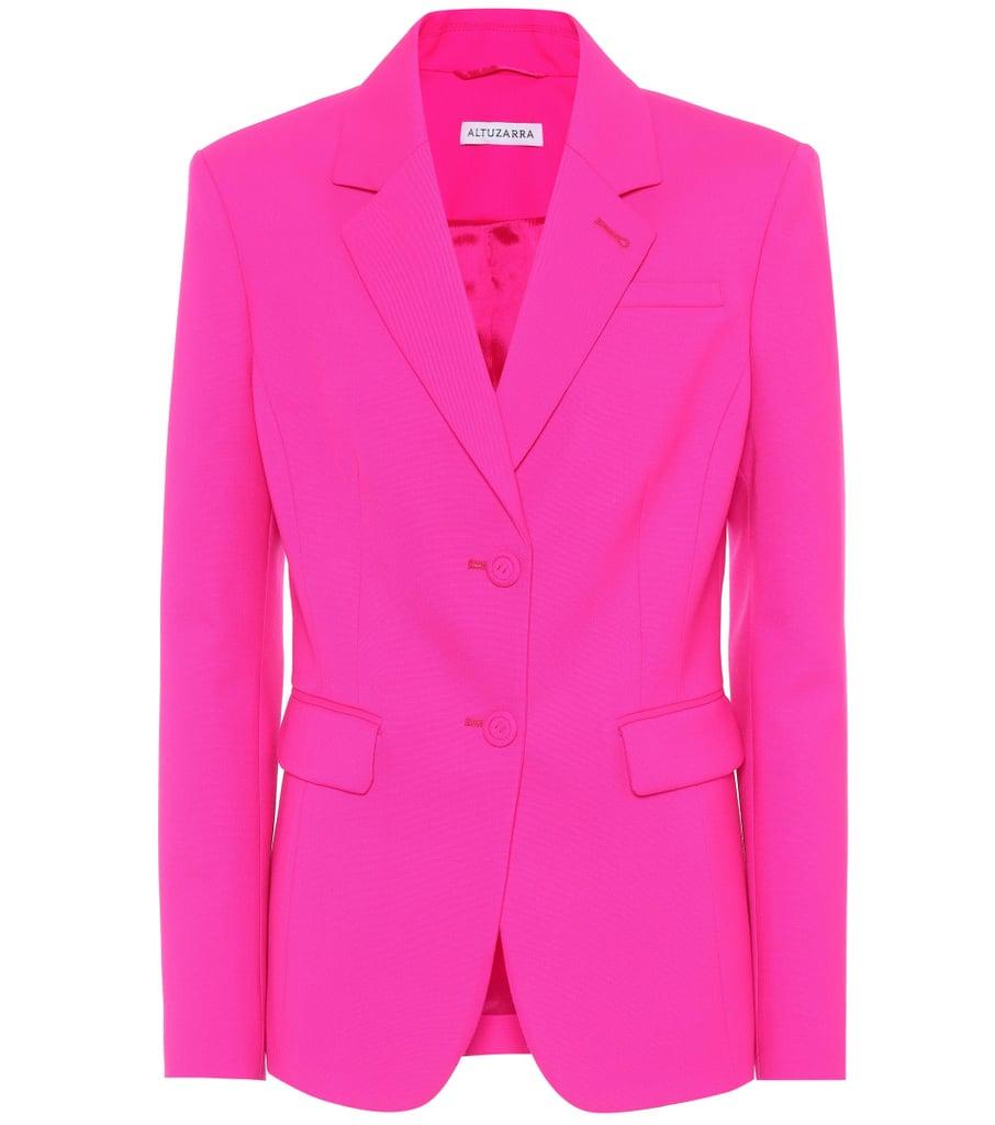 e704933777a3 Gal Gadot Oscar de la Renta Pink Suit | POPSUGAR Fashion