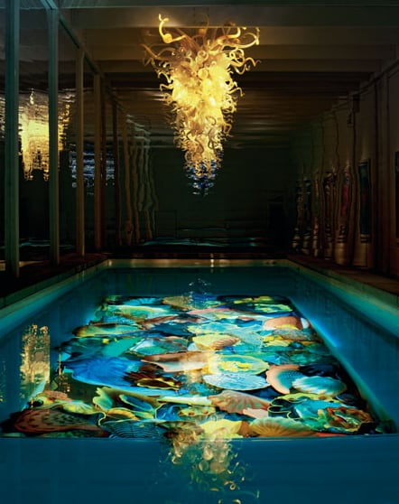 """For a mere $1.5 million dollars, turn your pool into a work of art with your very own <product href=""""http://www.neimanmarcus.com/store/sitelets/christmasbook/fantasy.jhtml?cid=CBF11_O4840&r=cat24050744&rdesc=The%20Christmas%20Book&rparams=xpage%3D48"""">Dale Chihuly Pool Sculpture Installation</product>. The ultimate art lover's gift also comes with an opportunity to check out the world renowned artist's art studio."""