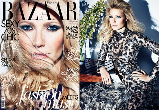 Pictures of Gwyneth Paltrow on Harper's Bazaar UK March 2011 Cover Plus Interview About Beyonce, Country Strong and Goop
