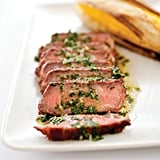 Get the recipe: charcoal-grilled Argentine steaks with chimichurri sauce