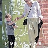 Cate Blanchett shared ice cream with her son.