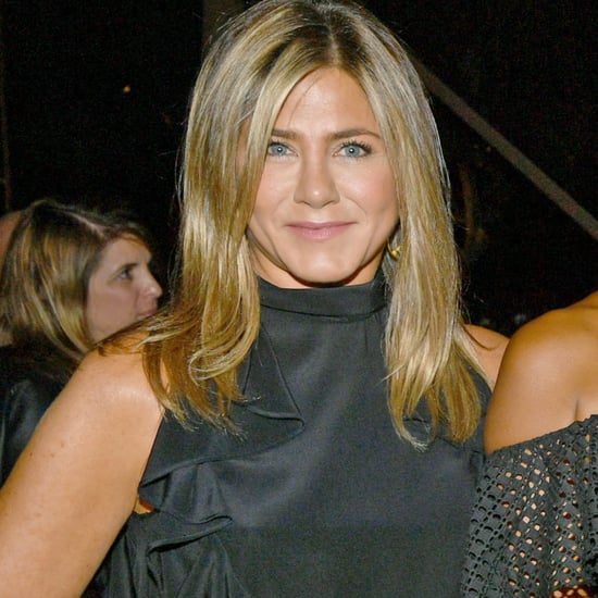 Jennifer Aniston Wearing Black at Emmys Party
