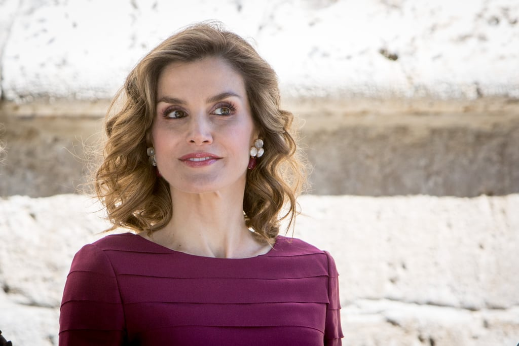 Queen Letizia Purple Felipe Varela Dress