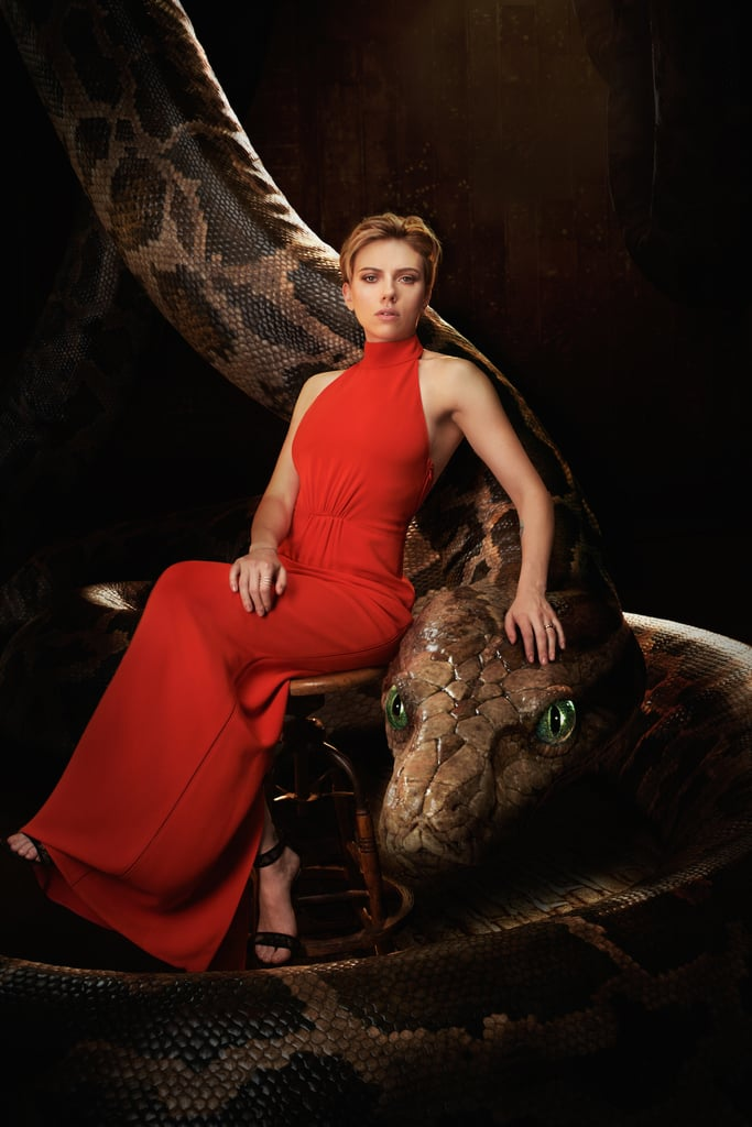 Scarlett Johansson with Kaa