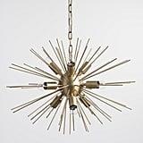 Brass Starburst Collin Chandelier ($250)