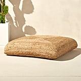Get the Look: Braided Jute Floor Cushion