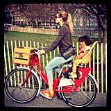 Doutzen Kroes took a sweet bike ride with her son, Phyllon James. Source: Instagram user doutzenkroes1
