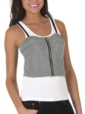 Fabworthy: Target Go International Gray Bustier Top