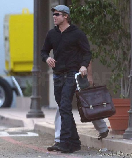 Pictures of Brad Pitt in LA Preparing to Shoot Moneyball