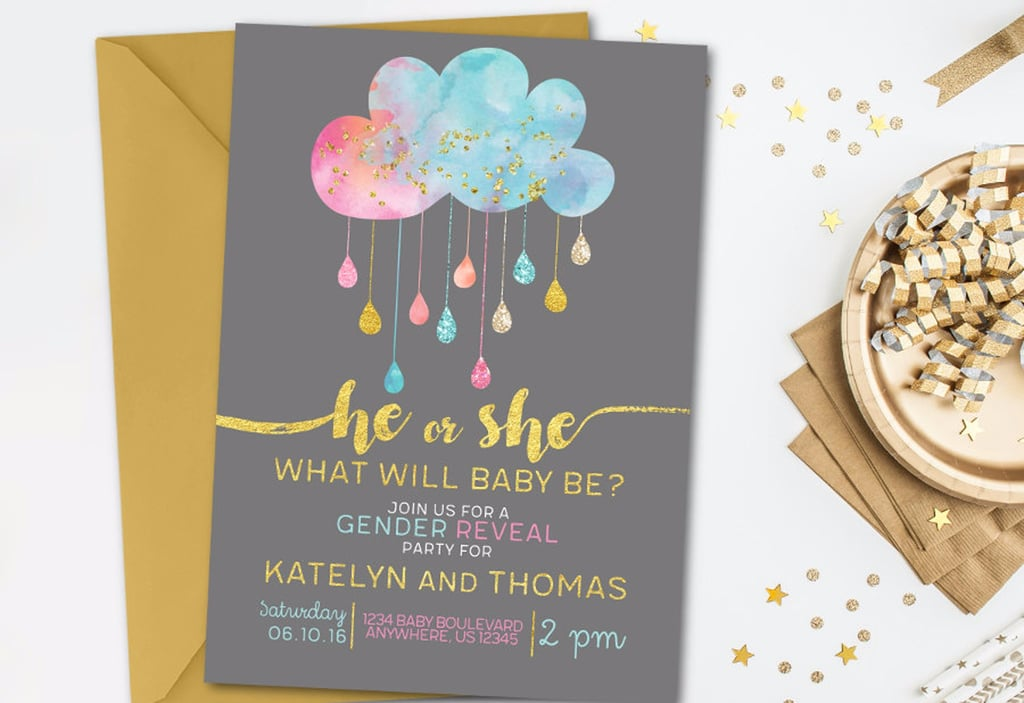 Gender Reveal Invitations POPSUGAR Moms