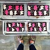 Compartés Animal Cookies Dark Chocolate Bar Pink Elephants ($11)