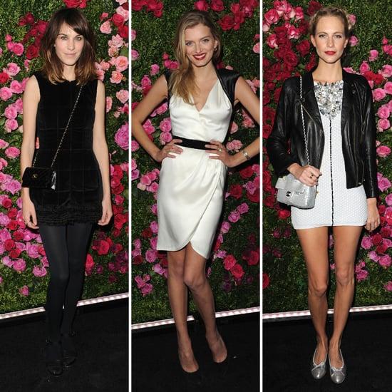 Alexa Chung, Lily Donaldson, Poppy Delevingne at Tribeca Chanel Dinner