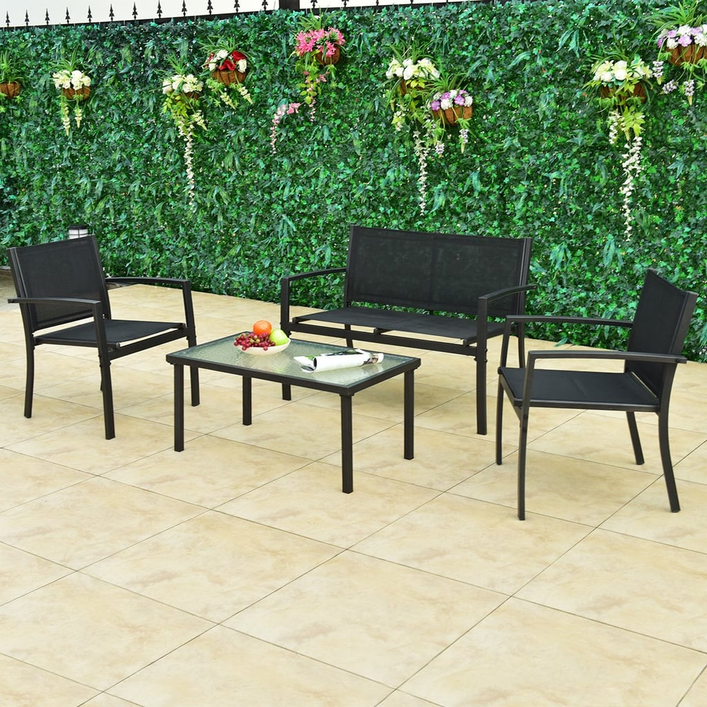 Rattan Patio Furniture Set Wicker Conversation Set