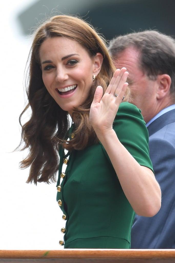 Windsor Auto Sales >> Kate Middleton Green Dress at Wimbledon 2019 | POPSUGAR Fashion Photo 8