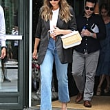 Style Your T-Shirt With: Jeans, a Blazer, and Heels