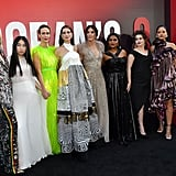 Pictured: Cate Blanchett, Awkwafina, Sarah Paulson, Anne Hathaway, Sandra Bullock, Mindy Kaling, Helena Bonham Carter, Rihanna