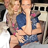 Sienna Miller and Matthew Williamson sat tight at the designer's Fashion Week afterparty.