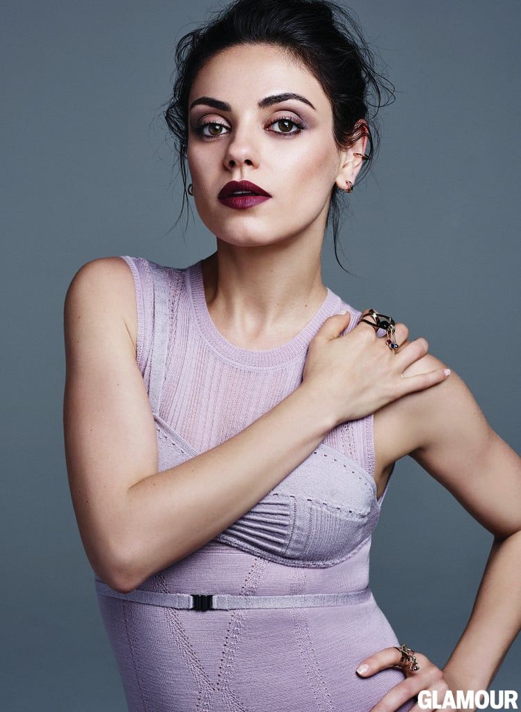 Mila Kunis On Glamour August 2016 Popsugar Celebrity