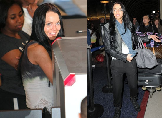 Pictures of Lindsay Lohan at LAX Leaving Town Amid Legal Trouble
