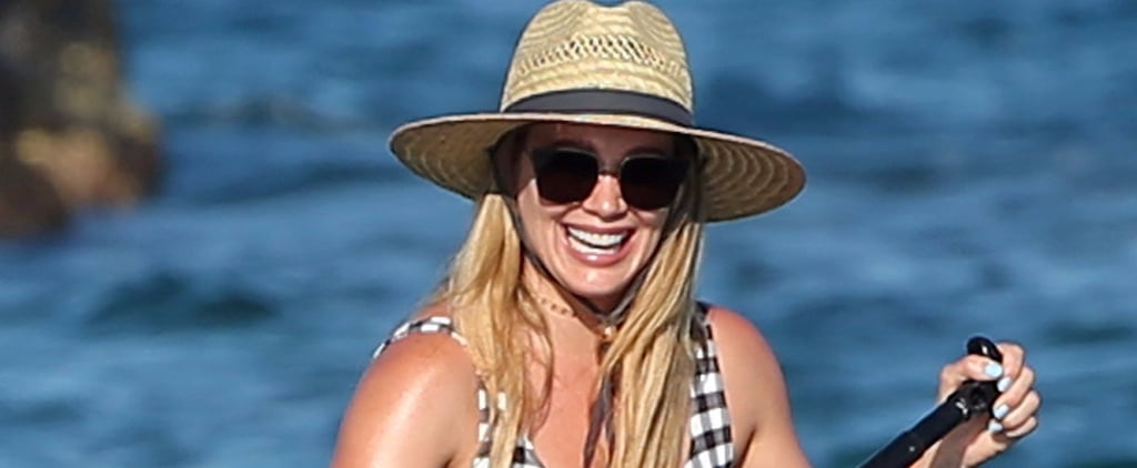 Hilary Duff Hits the Beach in Hawaii While Vacationing With  Son Luca