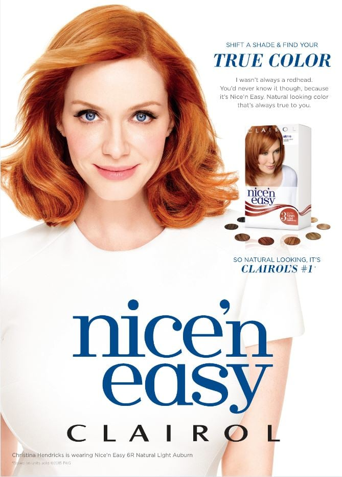 Christina Hendricks For Clairol Nice 'n Easy