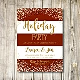 Red-and-White Striped Holiday Party Invitation