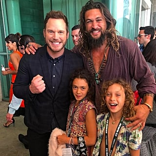 Chris Pratt and Jason Momoa at Comic-Con 2018