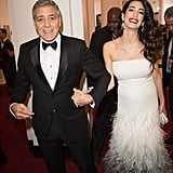 February: George and Amal Were Beaming During Their First Public Appearance Since Their Baby Announcement