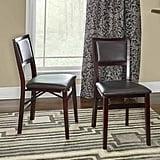 Linon Keira Pad Folding Chairs